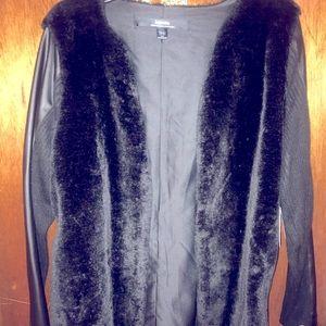 Kensie Faux Fur Sweater Vest